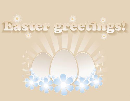 kortelė, Velykos, pasveikinimas, pasveikinimas, kiaušiniai, vintage, vektorius, dizainas, gėlės, raidės, Velykinis sveikinimai!