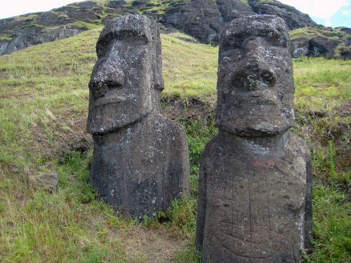 easter island rano raraku stone figure