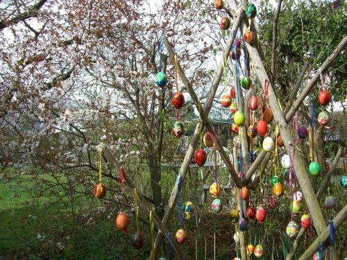 easter tree easter eggs easter