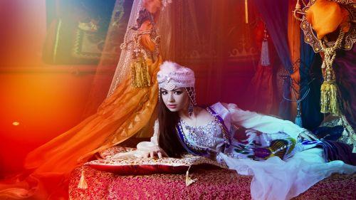eastern girl girl and hookah beautiful