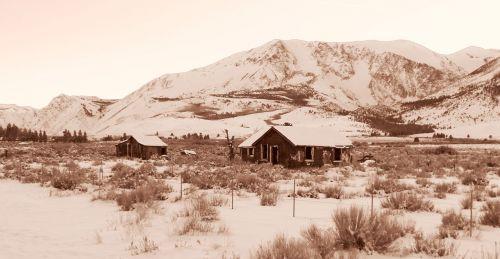 Eastern Sierra Winter - Old Homes