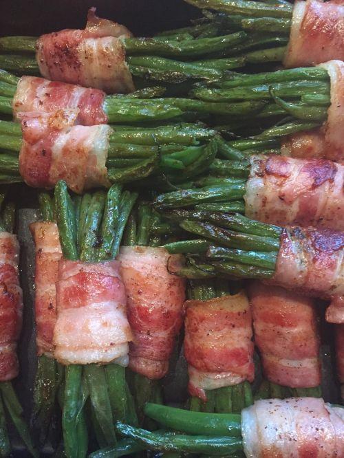 eat bacon beans close