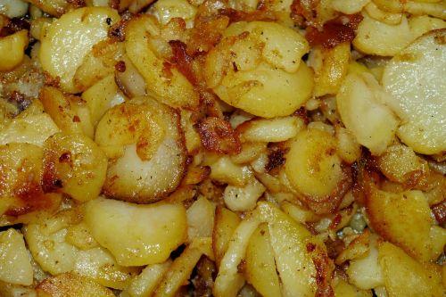 eat fried potatoes potato
