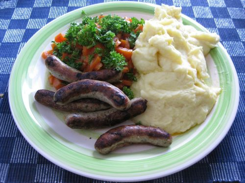 eat lunch mashed potatoes
