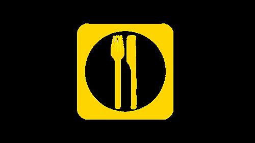 eat cutlery plate