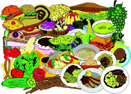 eat  food  background