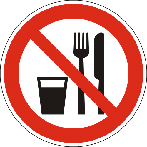 eat drink prohibited
