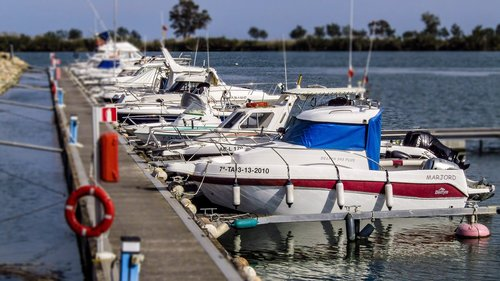 ebro delta  boats  boat