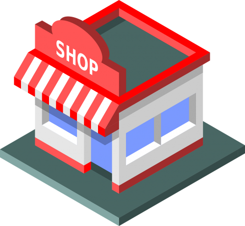 ecommerce shop isometric