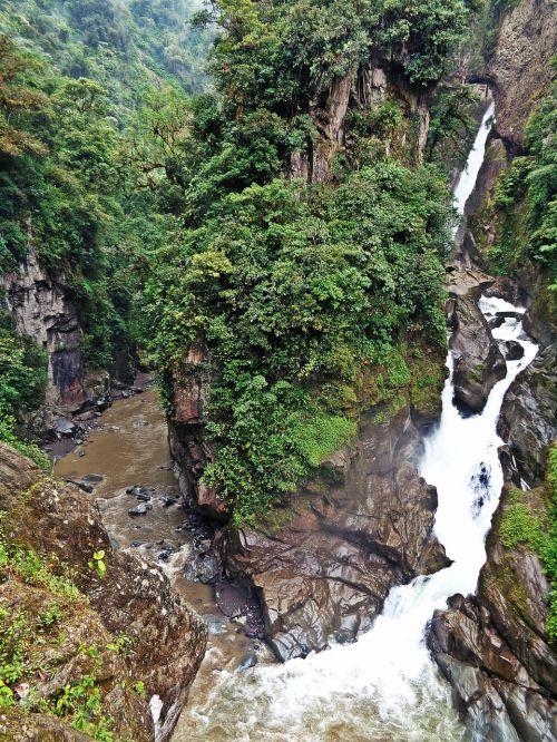 ecuador waterfall rocks