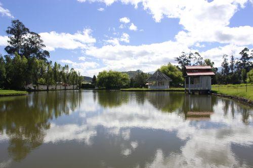 ecuador lake nature