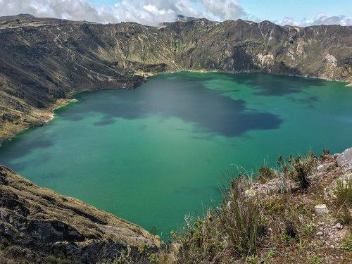ecuador  crater lake  landscape