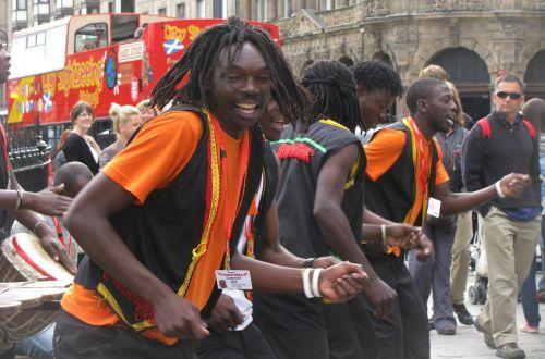 edinburgh street musicians africans