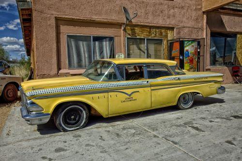 edsel ranger taxi cab classic car
