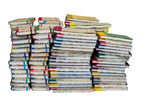 education book stack