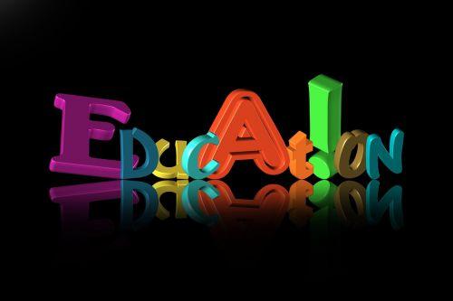 education letters font