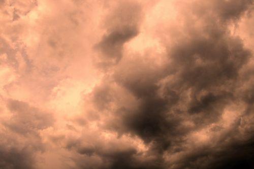 Eerie Amber Sky