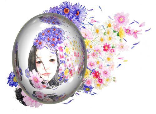 kiaušinis,Velykos,Velykinis kiaušinis,moteris,veidas,gėlės,ornamentas,muitinės,Velykos tema,spalvotas kiaušinis