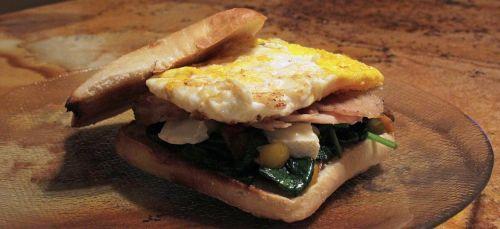 egg pork spinach