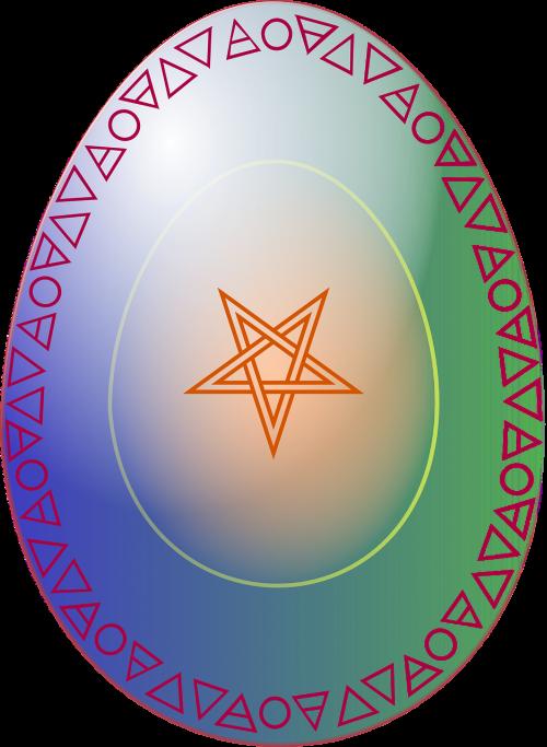 kiaušinis,papuoštas,pagonybė,pentakelis,atgimimas,atjauninimas,religija,pagarba,dvasia,simbolis,nemokama vektorinė grafika