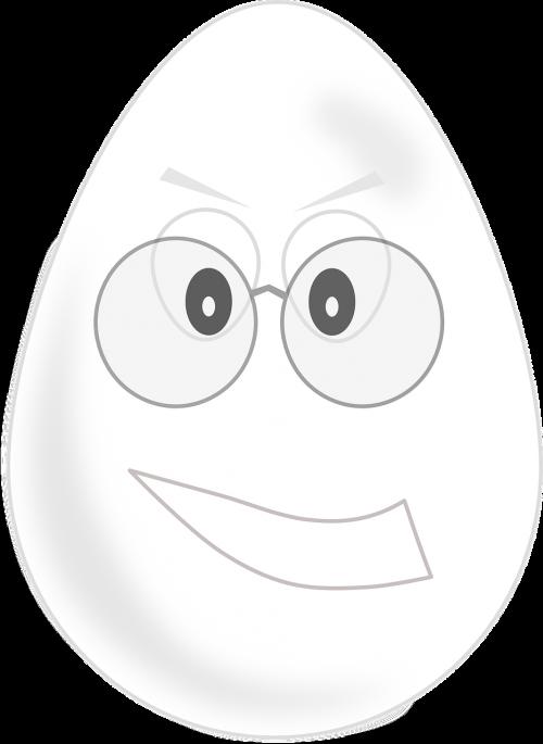 egg glasses grimly