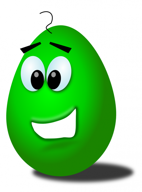 egg,egg face,smiley face,funny face,green egg,happy face,free vector graphics