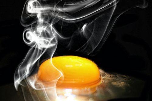 egg frying steam