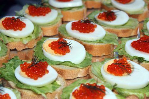 egg caviar salad
