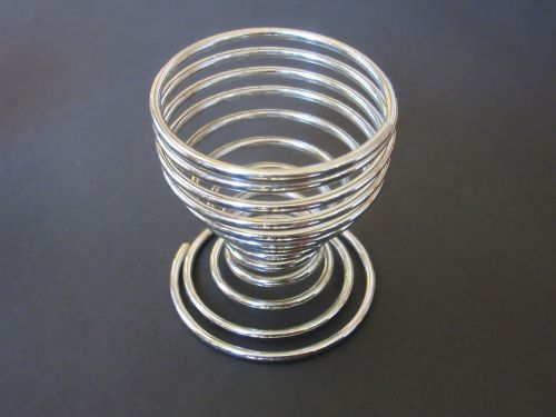 egg cups wire chrome plated