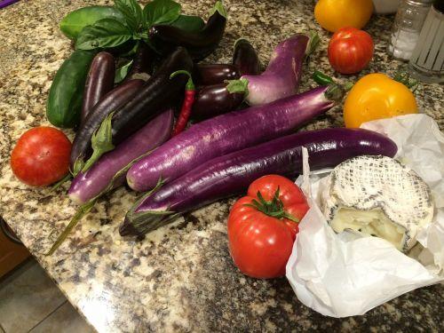 eggplant summer harvest