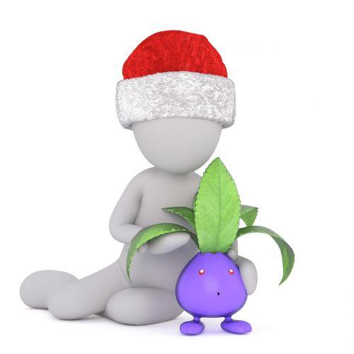 eggplant white male 3d model