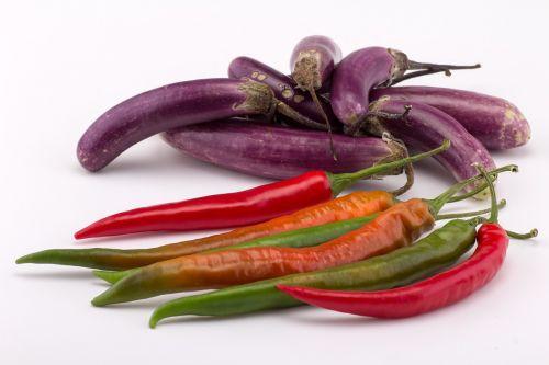 eggplant paprika chili peppers