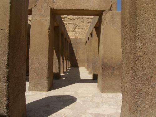 coridor antic architecture egypt
