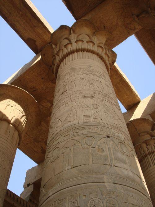 egypt column hieroglyph