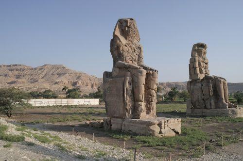 egypt colossi of memnon ancient times