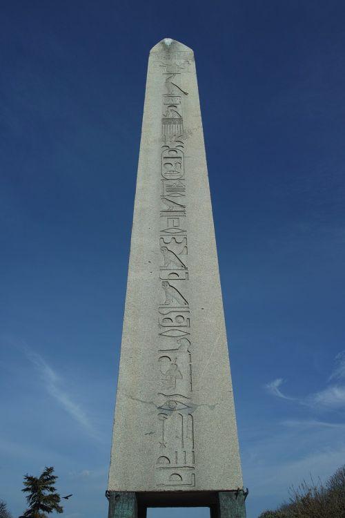 egypt stone column