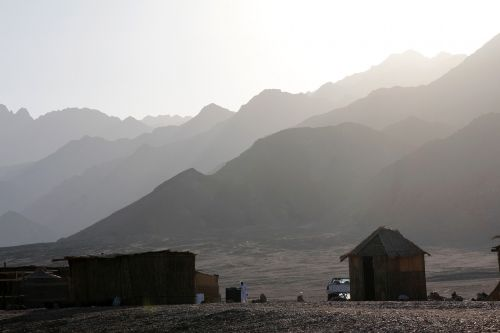 egypt mountains log cabin