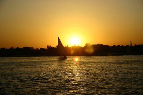 Egiptas,saulėlydis,Nile