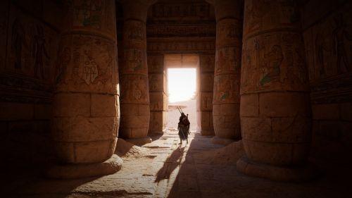 egypt tomb columns