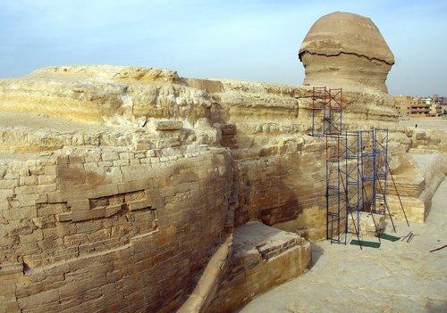 Egiptas, Kairas, Gizeh, Sphinx, Trump, kelionė, Senovinis, Pierre, paminklams, turizmas