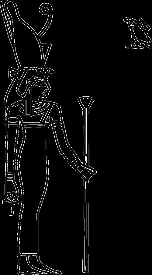 egypt hieroglyph god