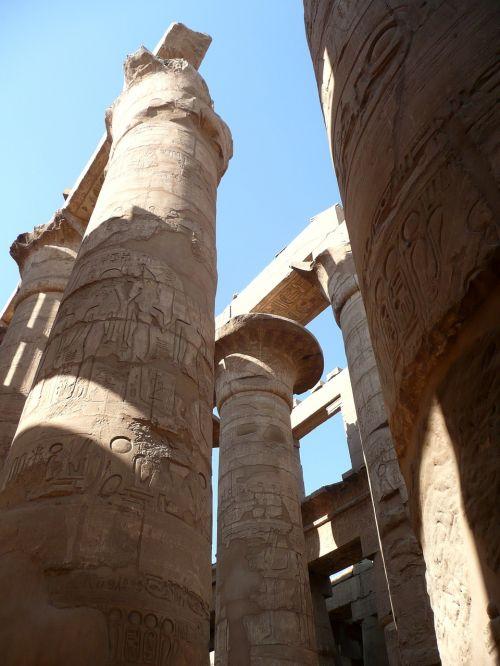 egypt temple columnar
