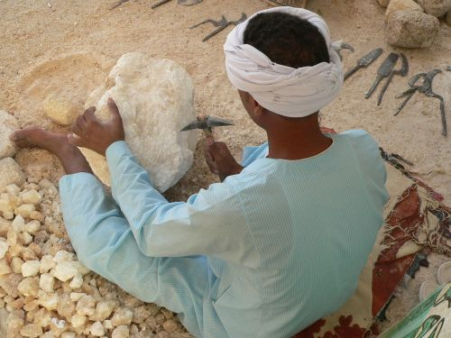 egypt luxor stone cutting