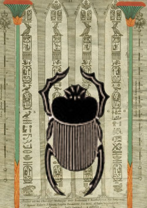 egyptian design beetle