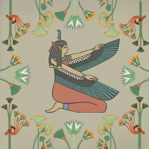egyptian woman wings