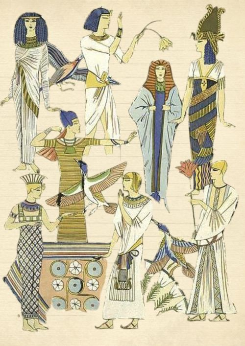 egyptian paper woman