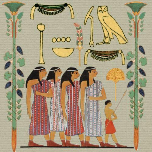 egyptian paper women