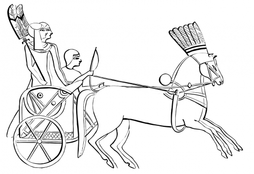 egyptian chariot horses ancient