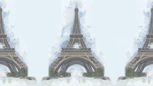 eiffel tower artistic sketch