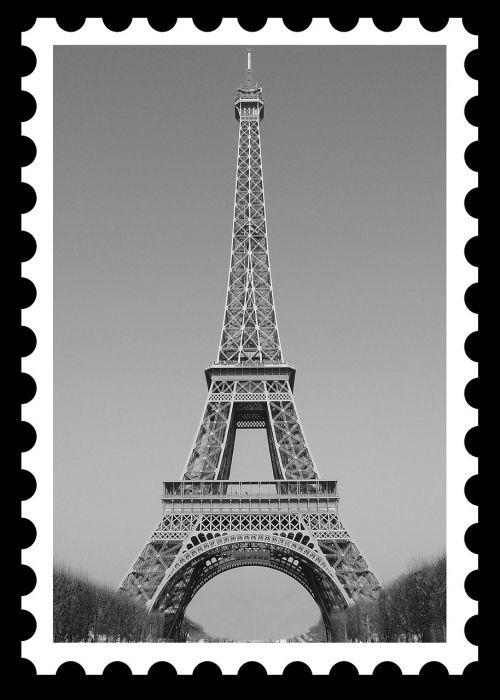 eiffel tower postage postage stamp